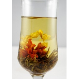 Bai He Hua Lan, Lily Flower Basket, Blooming Flowering Tea